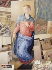 After Bronzino's Angel, in the Studio. - click here to see an enlargement