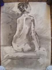 A.B. Seated Nude no.1 - click here to see an enlargement