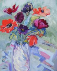 Vase of Primroses - click here to see an enlargement