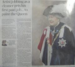 News of Alistair's portrait of The Queen - click here to see an enlargement
