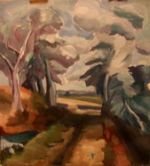 After Constable's 'Cornfield' - click here to see an enlargement