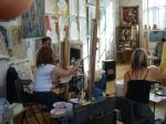 A workshop in Abbotsbury Studio - click here to see an enlargement